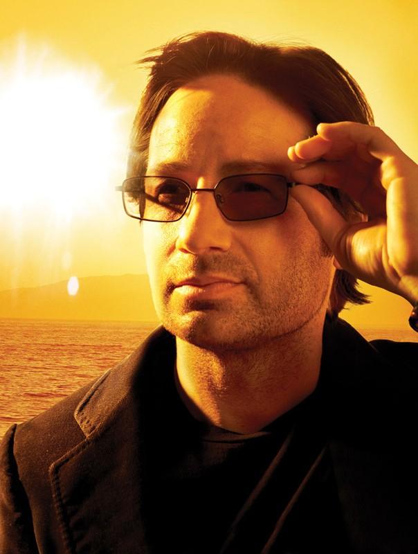 L'attore David Duchovny in una foto promozionale della stagione 2 del telefilm Californication