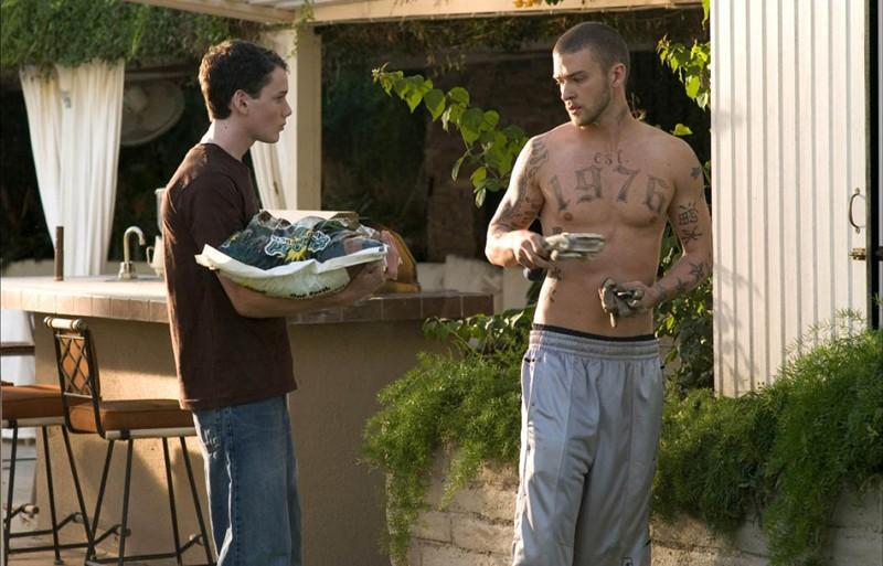 Anton Yelchin e Justin Timberlake in una scena del film Alpha Dog