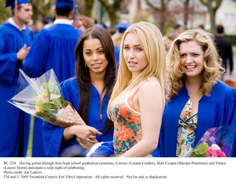 Hayden Panettiere con Lauren London e Lauren Storm in una scena di Una notte con Beth Cooper