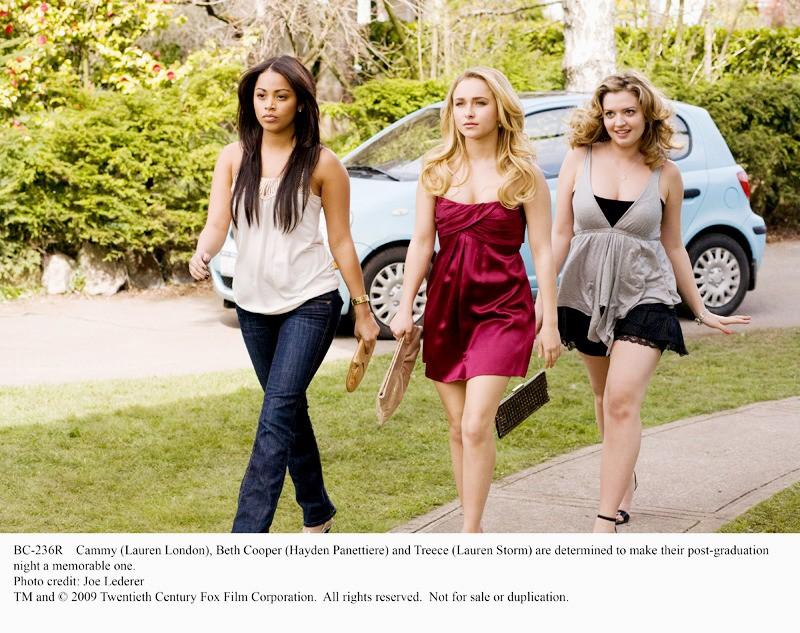 Lauren London, Hayden Panettiere e Lauren Storm in una scena di Una notte con Beth Cooper