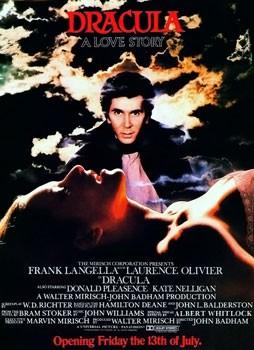 locandina originale inglese di Dracula (1979)