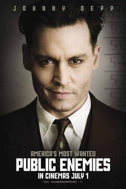 Nuovo Character poster di Nemico Pubblico (Public Enemies, 2009) con Johnny Depp.