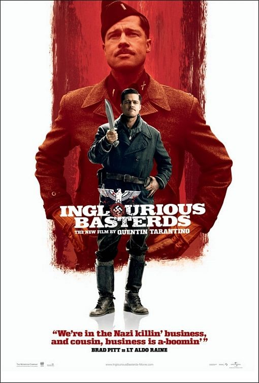 Nuovo Character poster USA per Inglorious Basterds - Brad Pitt