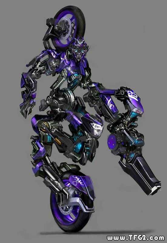 Immagine promo dell'autobot motocicletta Chromia, per il film Transformers: Revenge of the Fallen