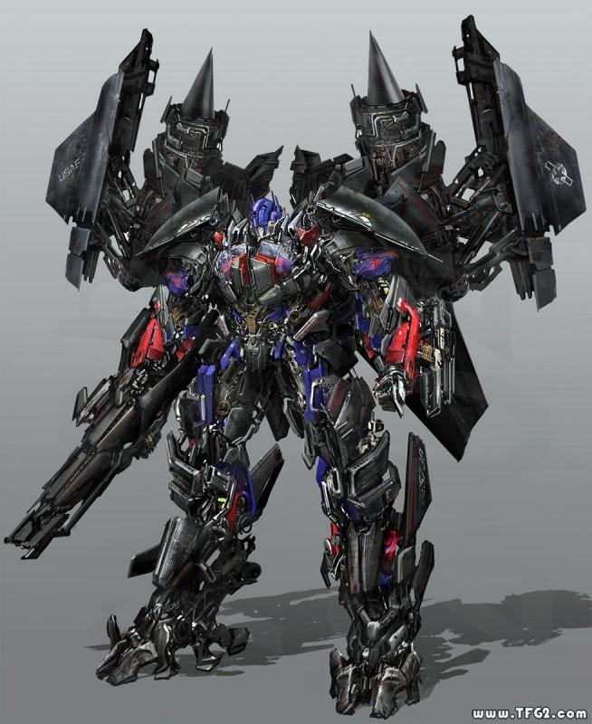 Immagine promo frontale della modalità combinata Jetfire - Optimus Prime , per il film Transformers: Revenge of the Fallen