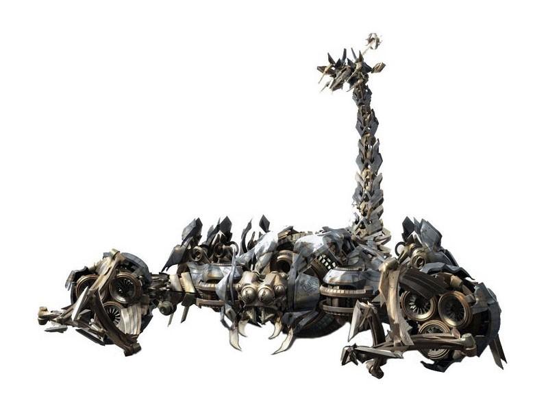 Un'immagine promo di Skorponok (lo scorpione meccanico dei Decepticon) per il film Transformers: Revenge of the Fallen