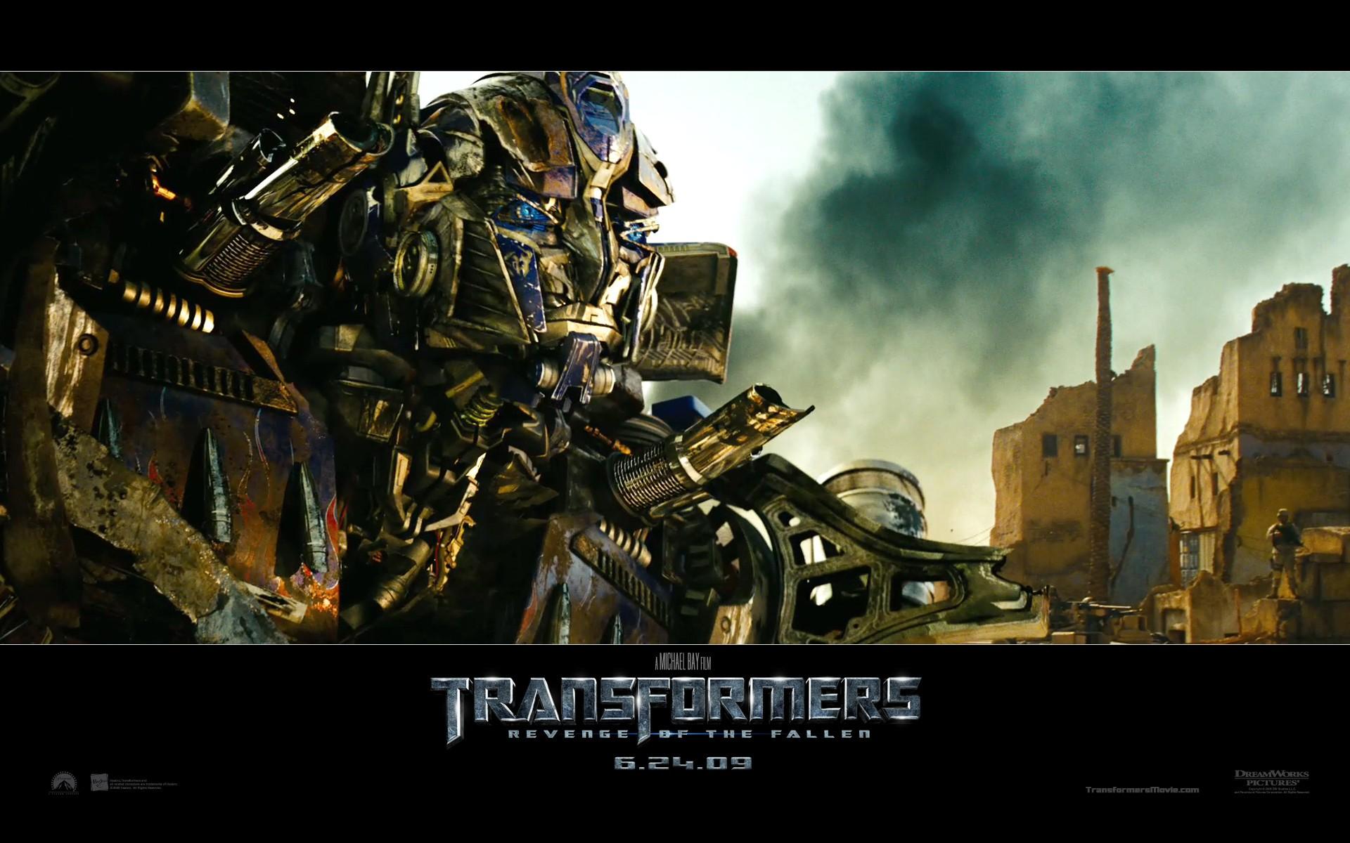 Un wallpaper dell'autobot ottenuto dalla fusione di Optimus Prime con Jetfire, nel film Transformers - La vendetta del caduto
