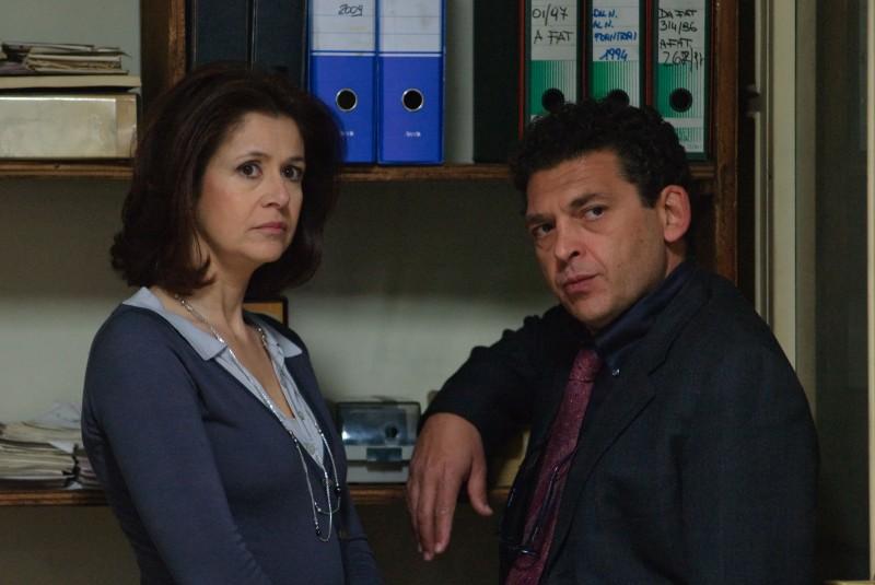 Paola Benocci e Ninni Bruschetta nel film televisivo Occhio a quei due
