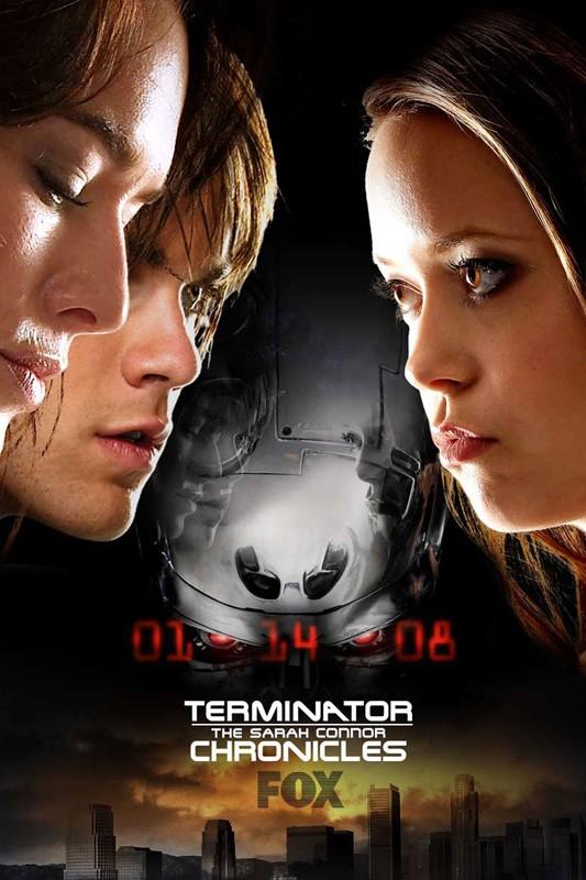 Un manifesto della Fox per la serie tv Terminator: The Sarah Connor Chronicles