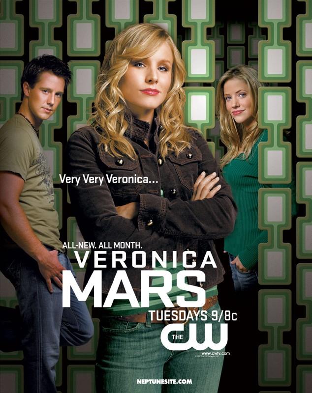 Un poster pubblicitario per la 3 stagione del telefilm Veronica Mars