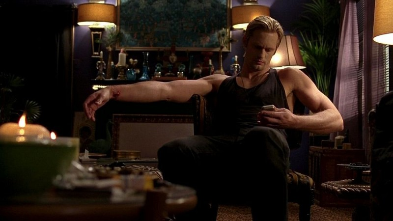 Alexander Skarsgård in un'immagine dell'episodio 'Shake and Fingerpop' della serie tv True Blood