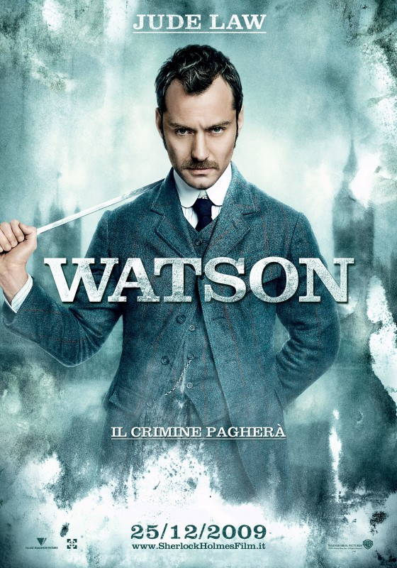 Character poster italiano per Sherlock Holmes - Jude Law (Watson)