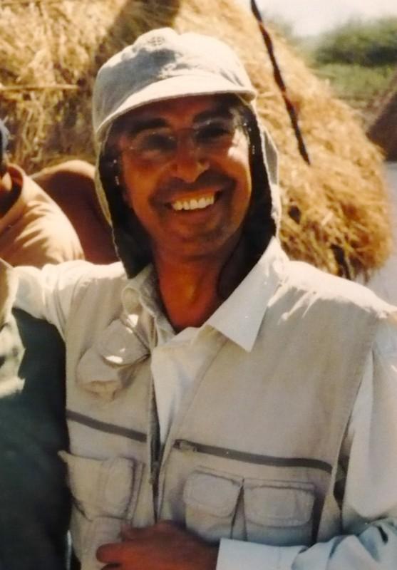 Giovanni Ragone in Africa sul set Muzungu