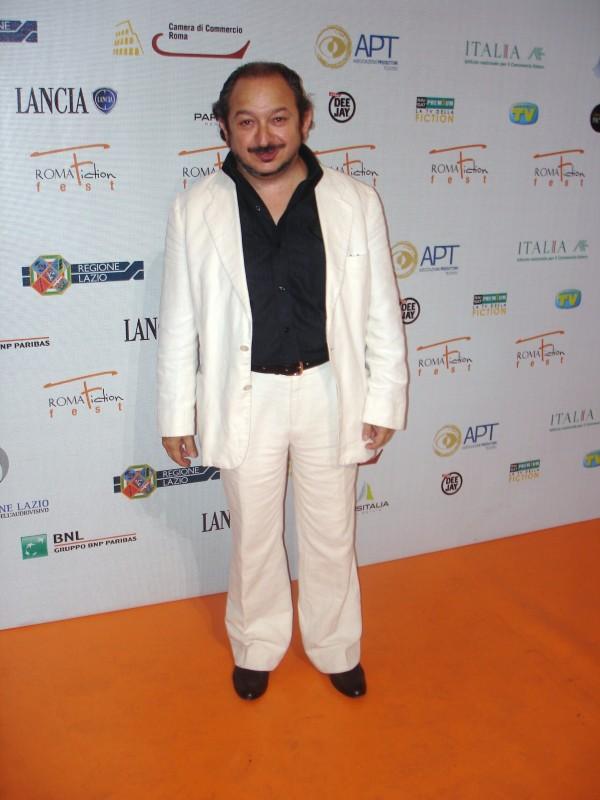 Orfeo Orlando al Roma Fiction Fest 2009, invitato per la presentazione del film tv Negli occhi dell'assassino nel il quale ha interpretato il ruolo di un ex fantino