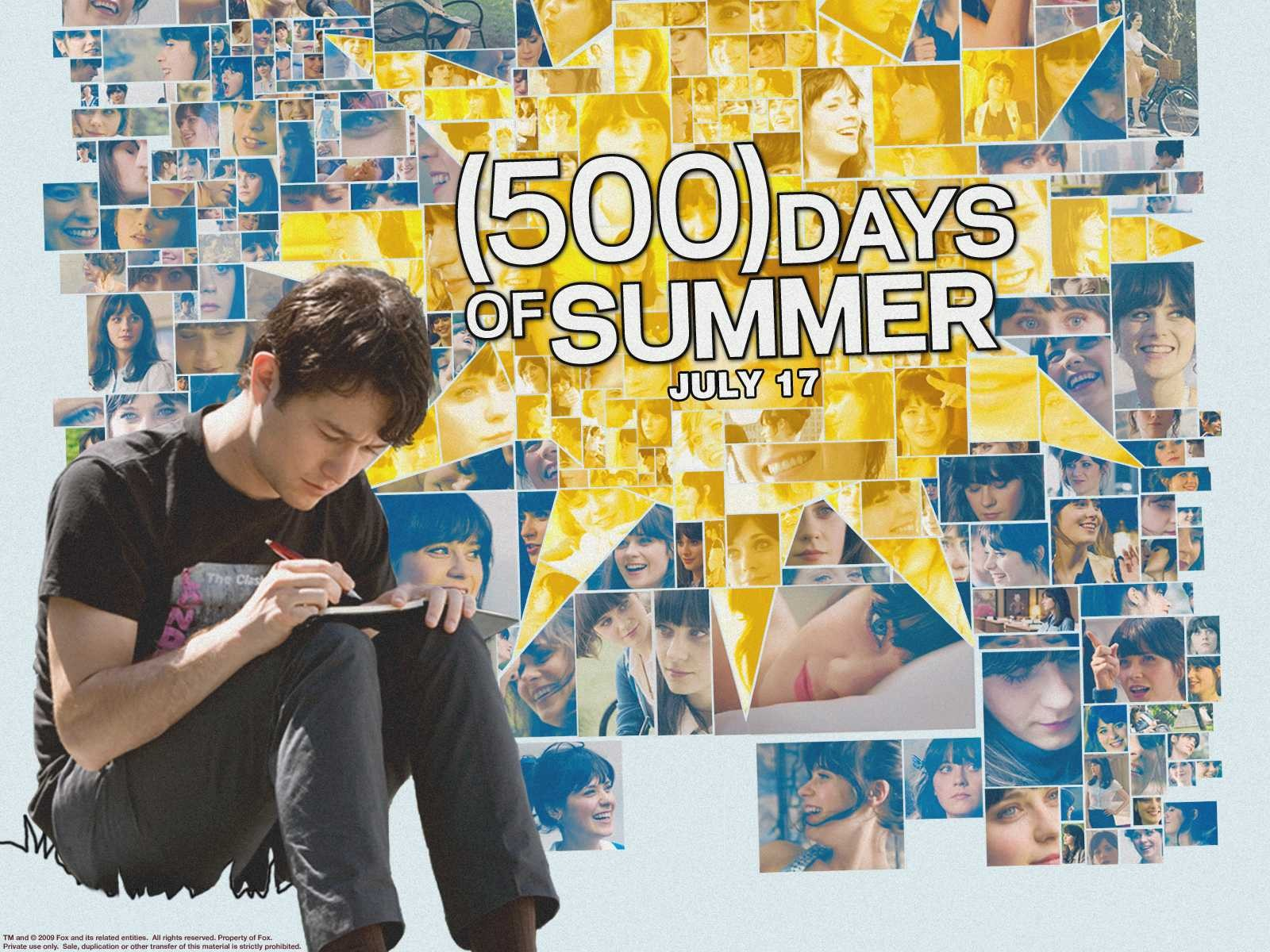 Un wallpaper del film (500) Days of Summer