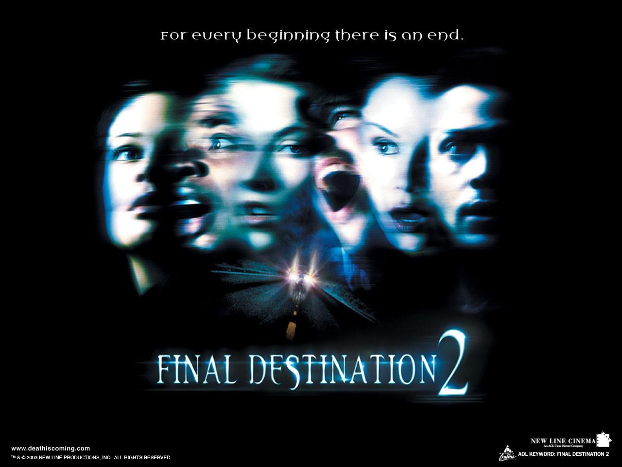 Un wallpaper ufficiale del film Final Destination 2