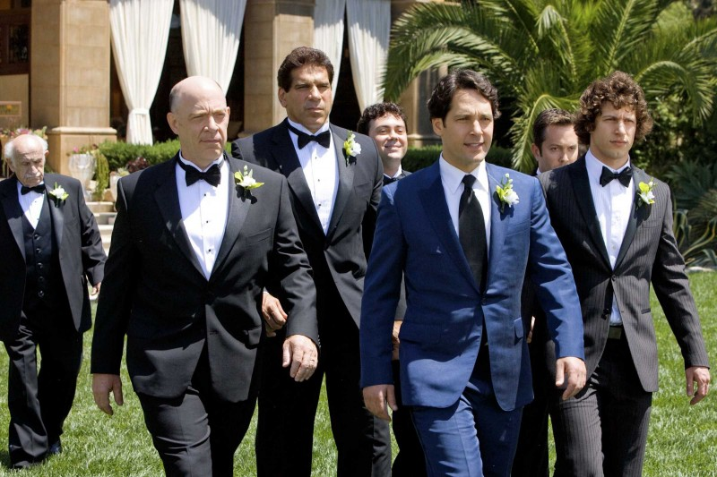 J.K. Simmons, Joe Lo Truglio, Paul Rudd, Thomas Lennon e Andy Samberg in una scena del film I Love You, Man