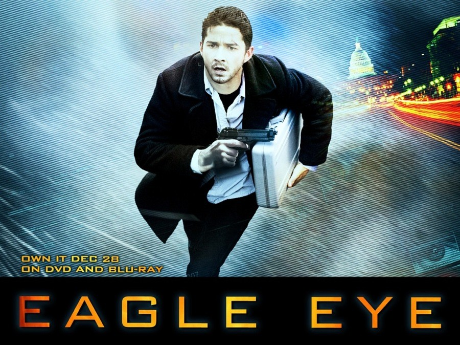 Un wallpaper del film Eagle Eye, con Shia LaBeouf