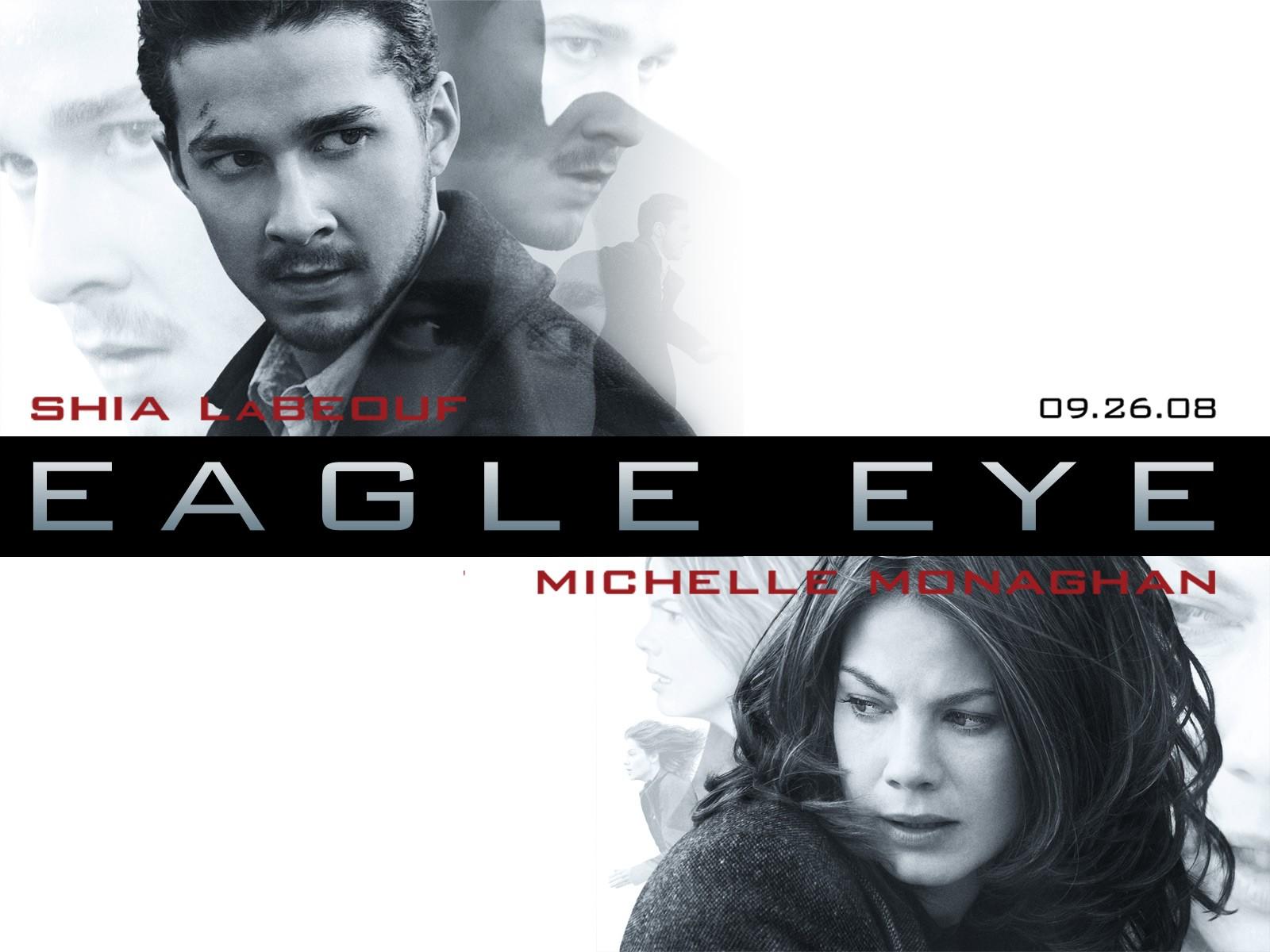 Un wallpaper di Michelle Monaghan e Shia LaBeouf per il film Eagle Eye