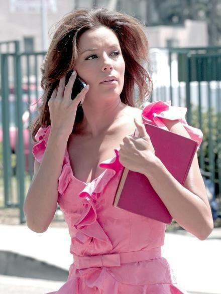 Eva Longoria Parker sul set della sesta stagione di Desperate Housewives