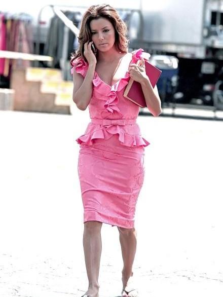 Eva Longoria Parker sul set della stagione sei di Desperate Housewives, a Los Angeles