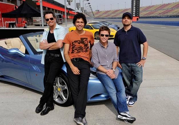 Kevin Dillon, Adrian Grenier, Jerry Ferrara e Kevin Connolly in una foto promozionale per la stagione sei di Entourage