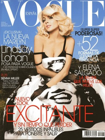 Lindsay Lohan gioca ancora una volta a fare Marilyn Monroe su Vogue Spagna