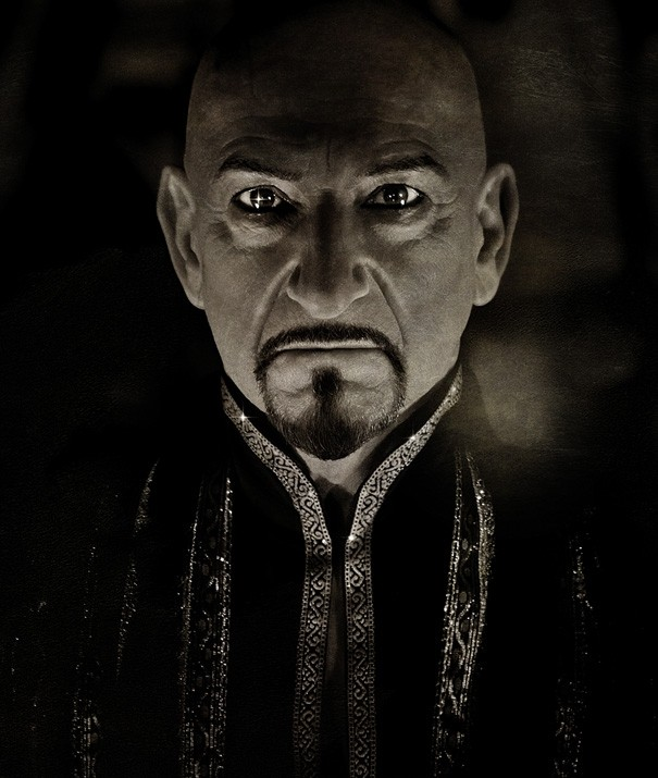 Minacciosa foto del cattivo Ben Kingsley in Prince of Persia: Sands of Time