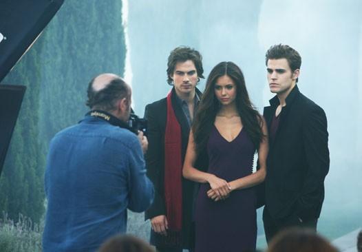 Una foto dal set della nuova serie CW The Vampire Diaries