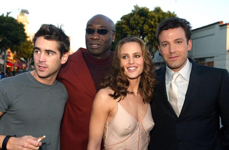 Colin Farrell, Michael Clarke Duncan, Jennifer Garner e Ben Affleck alla premiere del film Daredevil a Los Angeles nel 2003