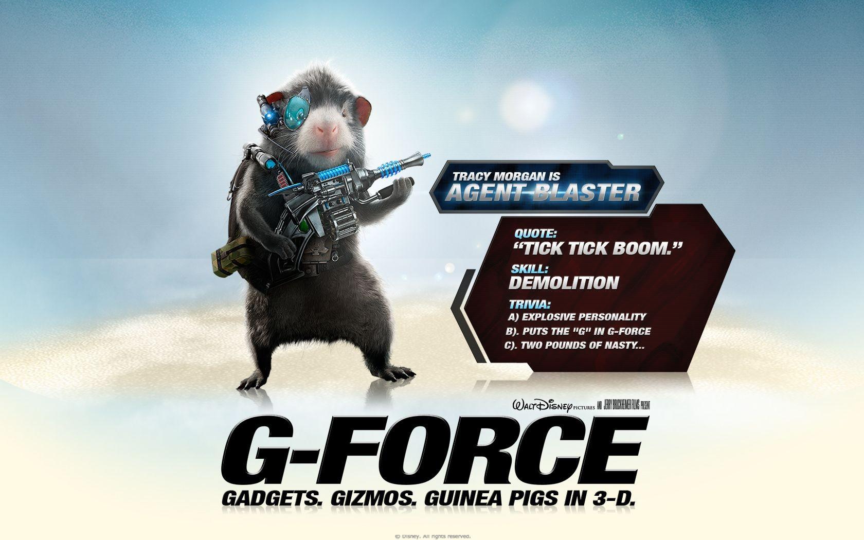 Un wallpaper del film G-Force: Superspie in missione con Blaster