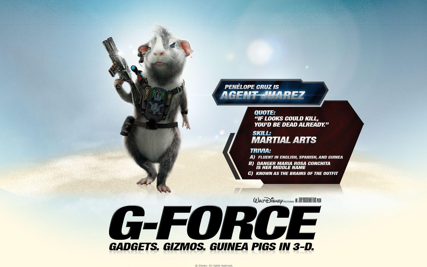 Un wallpaper del film G-Force: Superspie in missione con Juarez