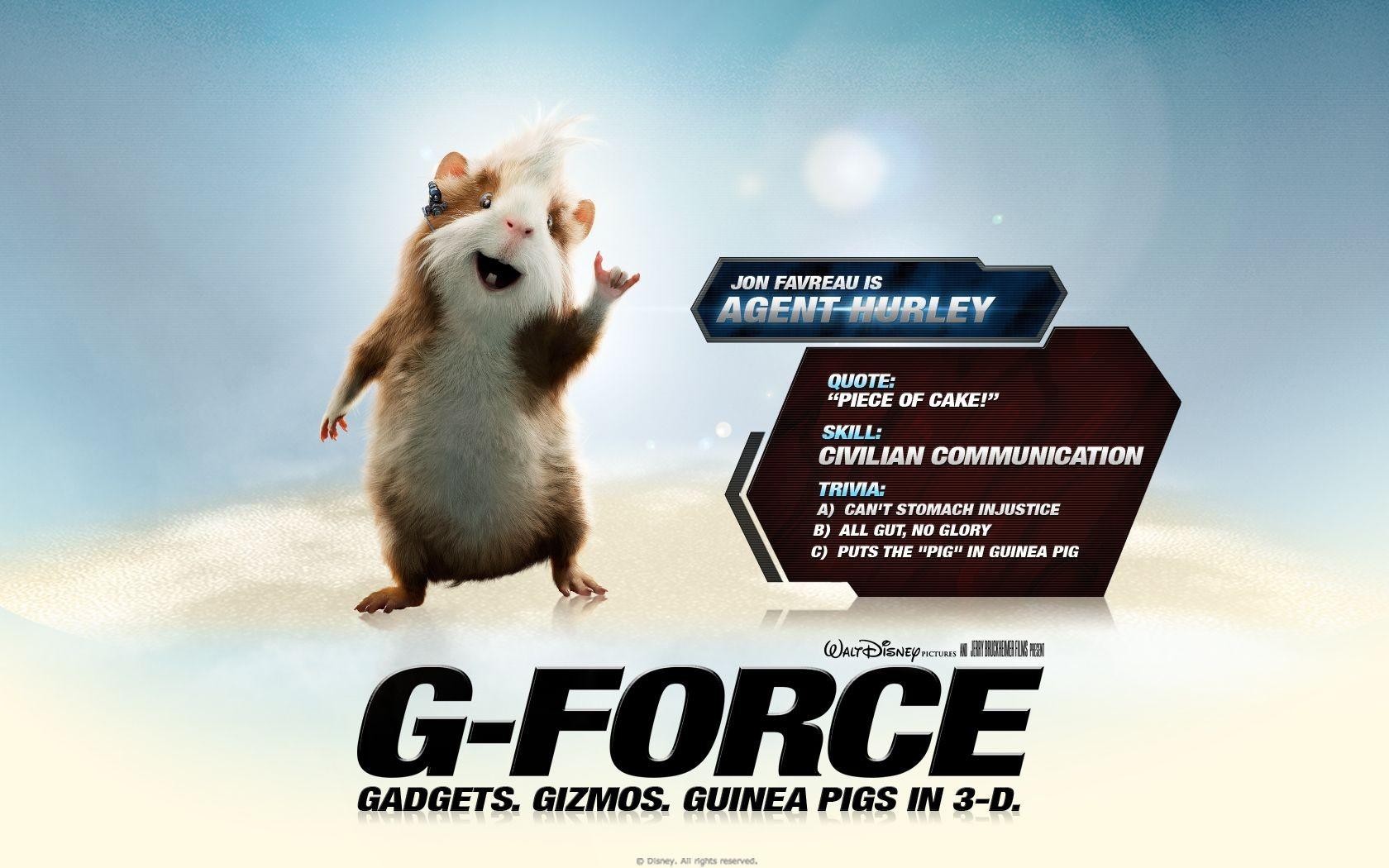 Un wallpaper del film G-Force: Superspie in missione con Hurley