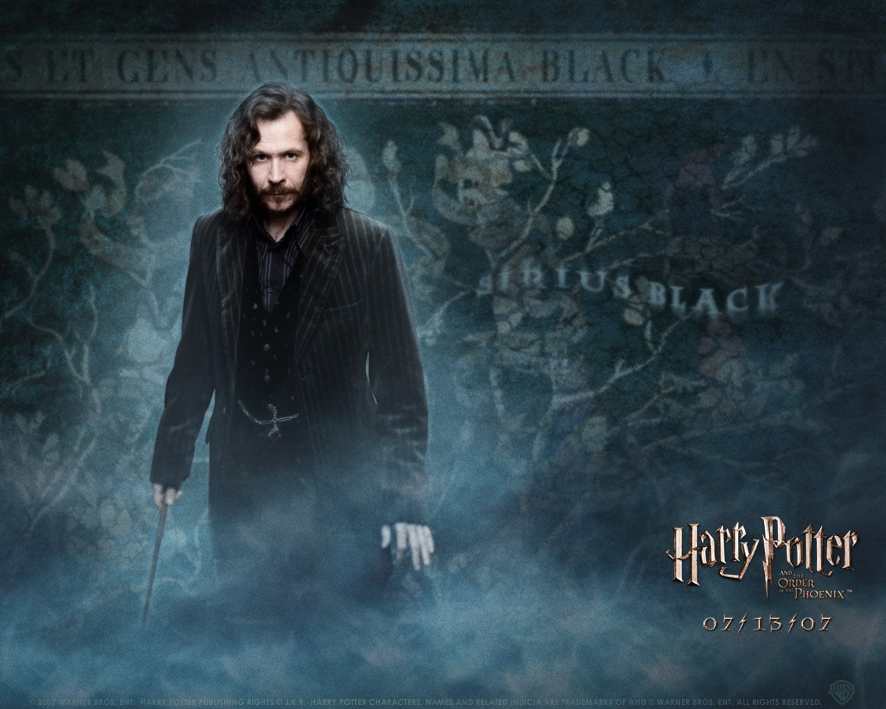 Un wallpaper di Gary Oldman per il film Harry Potter e l'ordine della Fenice