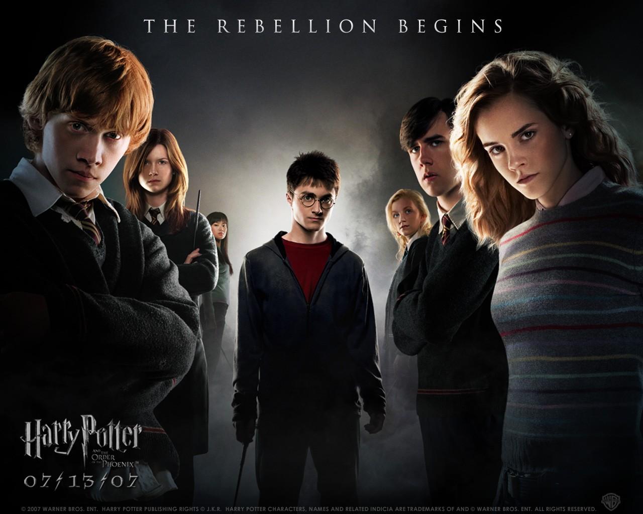 Un wallpaper di gruppo per il film Harry Potter e l'Ordine della Fenice