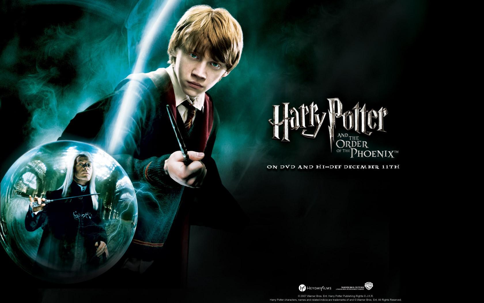 Un wallpaper ufficiale per Harry Potter and the Order of the Phoenix con Rupert Grint