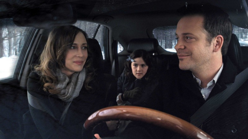 Vera Farmiga, Isabelle Fuhrman e Peter Sarsgaard in una scena dell'horror Orphan