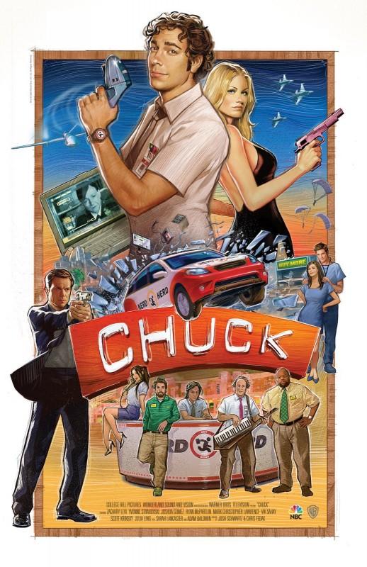 Poster speciale per il Comic-Con 2009 della serie Chuck