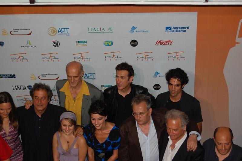 Roma FictionFest 2009 - Ennio Fantastichini, Marco Giallini, Bebo Storti, Nicole Grimaudo e Giorgio Colangeli sull'Orange Carpet per Il Mostro di Firenze, in onda su Fox Crime