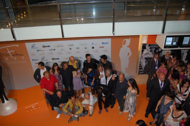 Roma FictionFest 2009 - il cast de Il mostro di Firenze sull'Orange Carpet