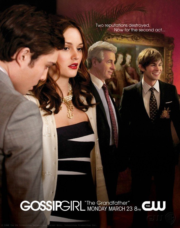 Un manifesto promo per l'episodio 'The Grandfather' della stagione 2 di Gossip Girl