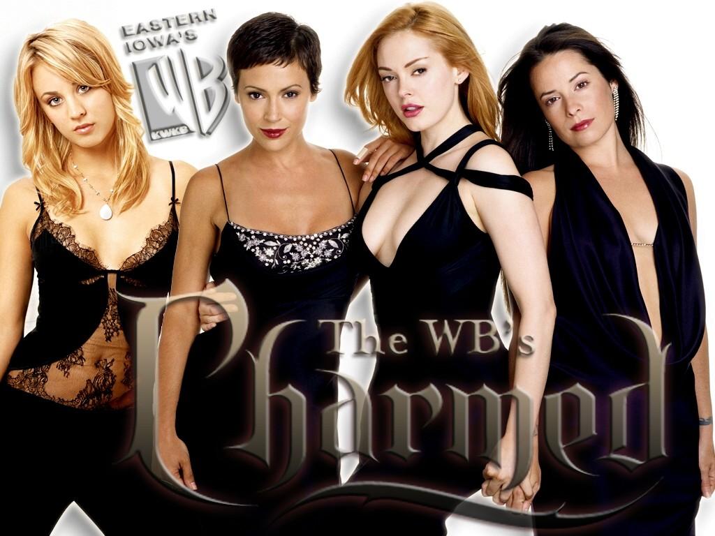 Wallpaper: Piper(H. M. Combs), Phoebe(A. Milano), Paige(R. McGowan) e Billie Jenkins(K. Cuoco) per la season 8 di Charmed