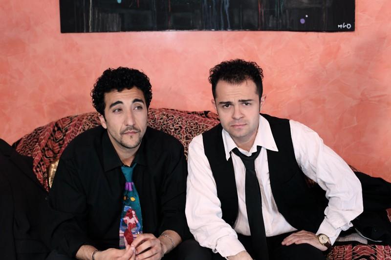 Renato Solpietro e Andrea De Rosa sul set di Ganja Fiction
