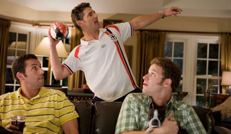 Adam Sandler, Eric Bana e Seth Rogen in una scena della commedia Funny People