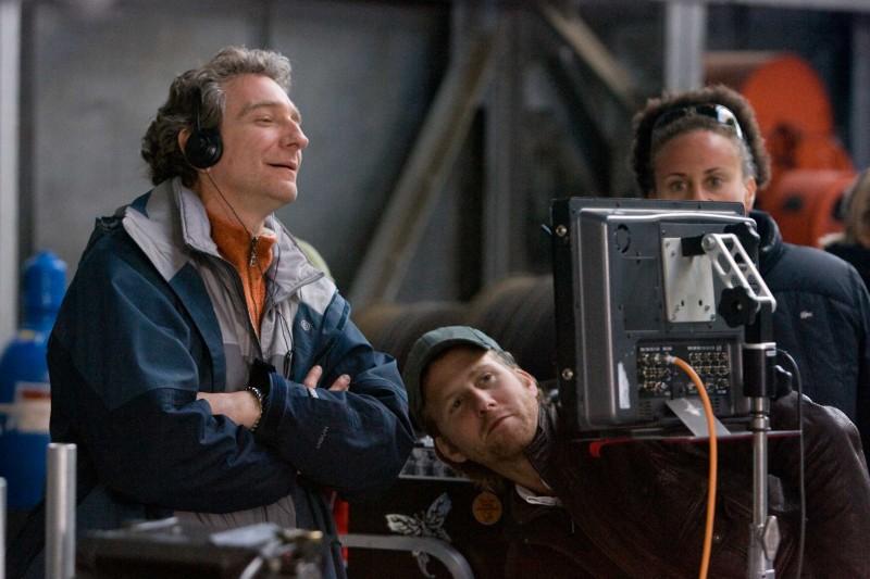 Il regista Max Mayer sul set del film Adam