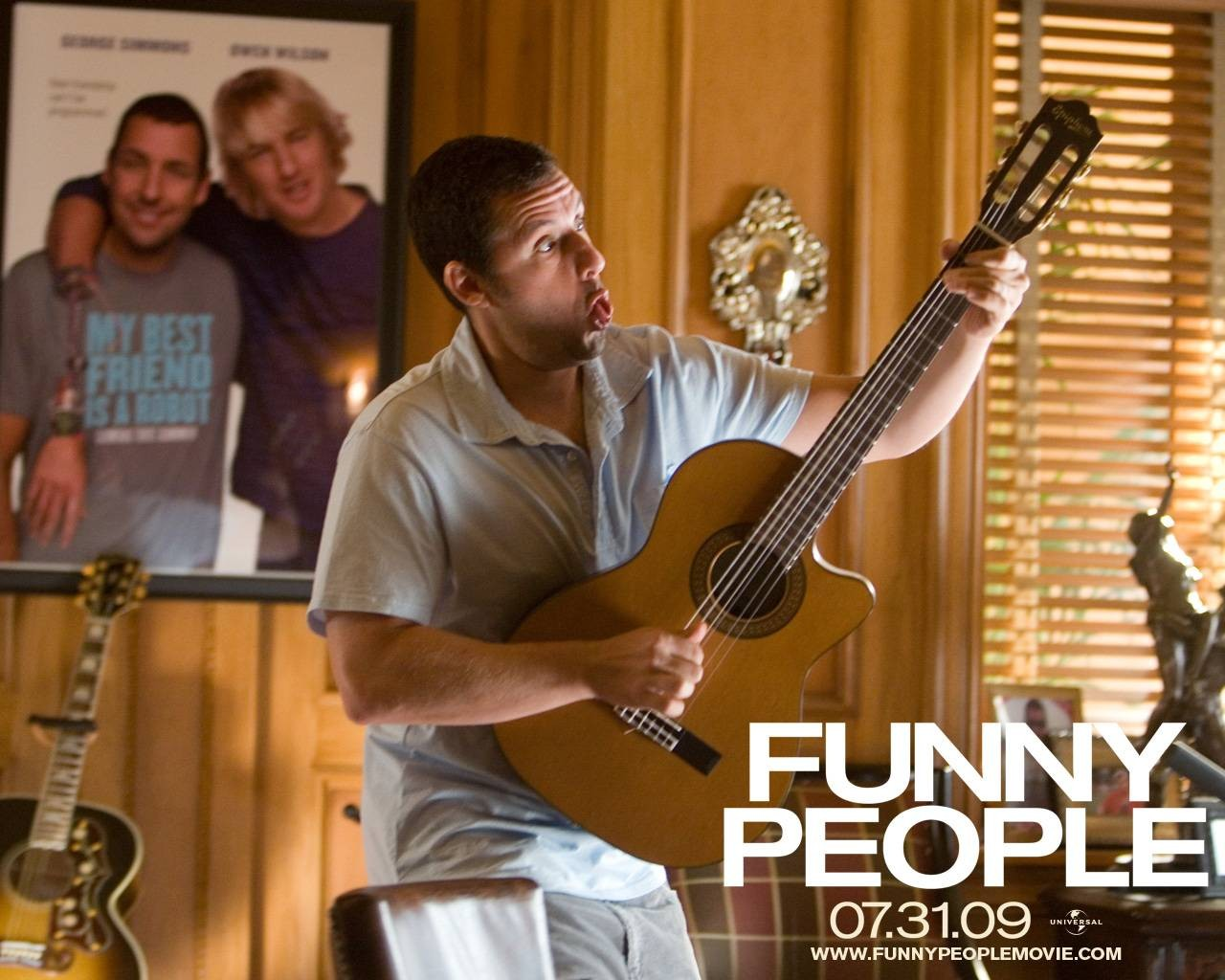 Wallpaper del film Funny People con Adam Sandler