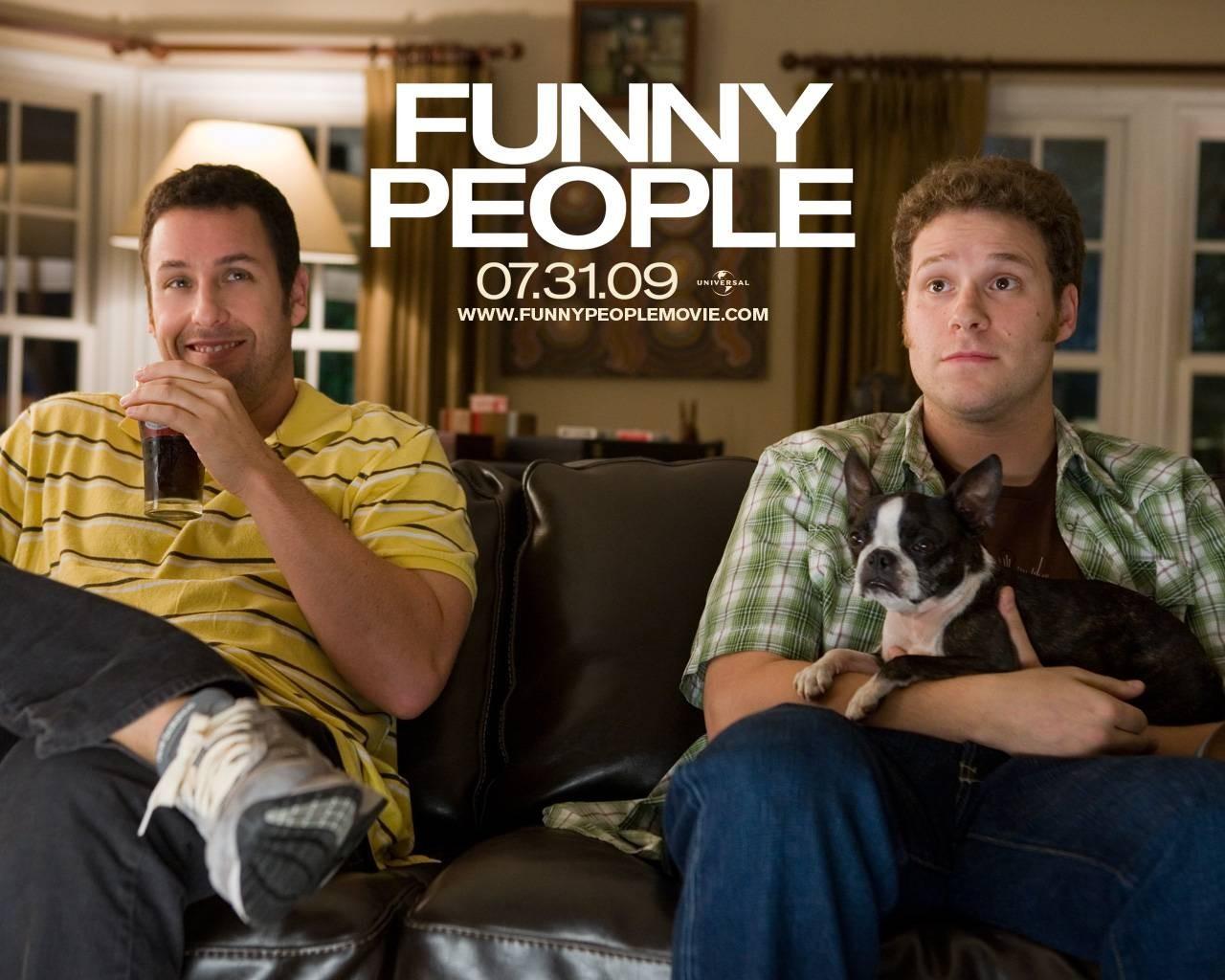 Wallpaper del film Funny People con Adam Sandler e Seth Rogen