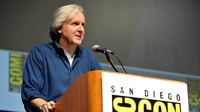 Comic-Con di San Diego 2009: James Cameron durante la presentazione del suo film Avatar.