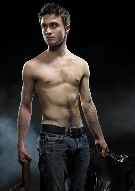 Daniel Radcliffe in un'immagine promo dello spettacolo teatrale Equus
