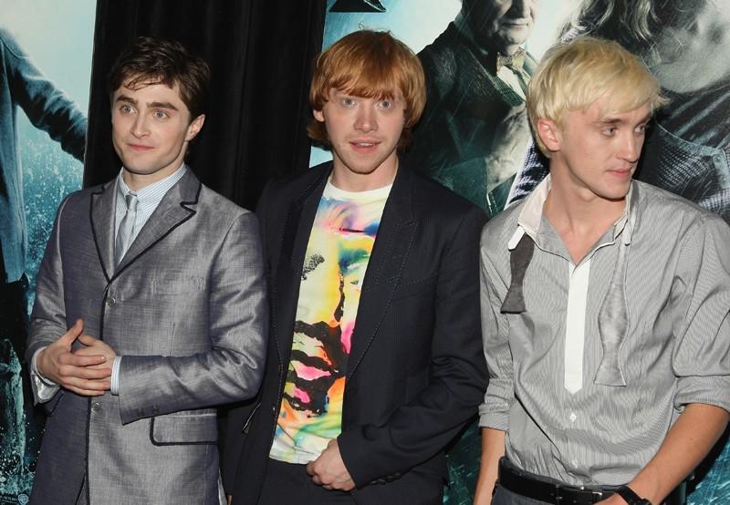 Daniel Radcliffe, Rupert Grint e Tom Felton a New York alla premiere di Harry Potter e il Principe Mezzosangue